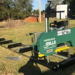 GT 26 Portable Sawmill track and machine set-up
