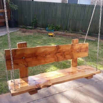 Timber swing seat