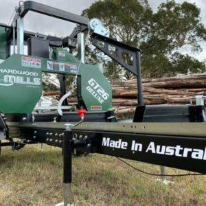 portable sawmill trailer