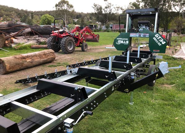 The New Hardwood Mills Made in Australia new anti roll fold a way log loader system